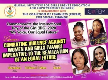 COMMEMORATION OF INTERNATIONAL DAY OF THE GIRL (IDG2020)